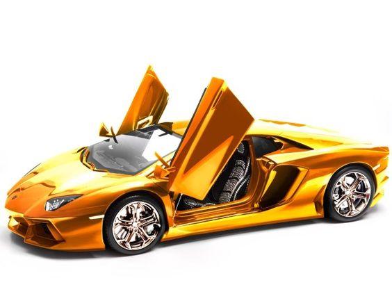 Lamborghini avantador gold