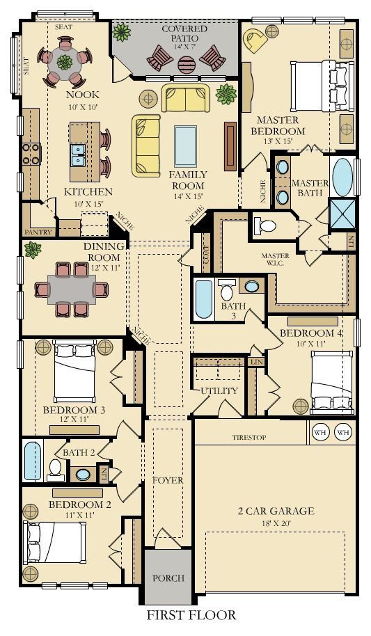 Giallo New Home Plan In Crescent Bluff Brookstone Ii By Lennar Narrow Lot House Plans New House Plans House Plans
