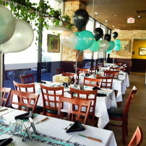 Surprise 75th birthday party tables 75th birthday party for 75th birthday decoration