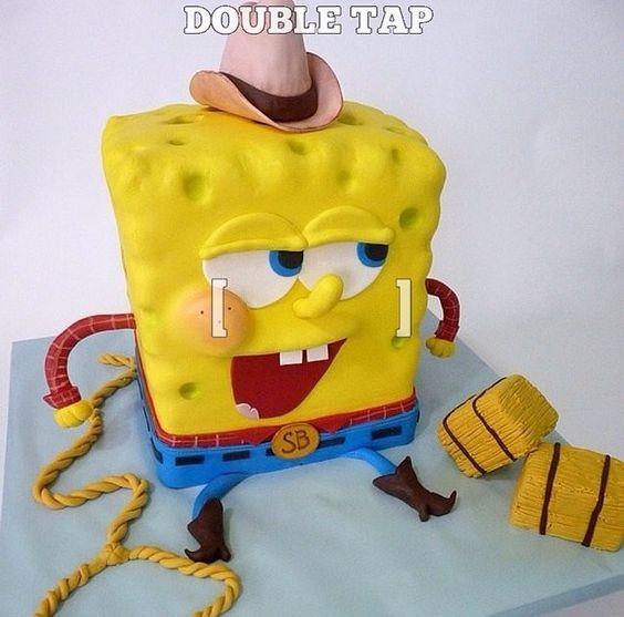 Spong bob cake
