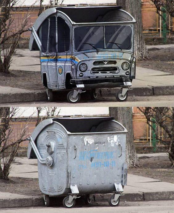 dapper dumpster! street art: