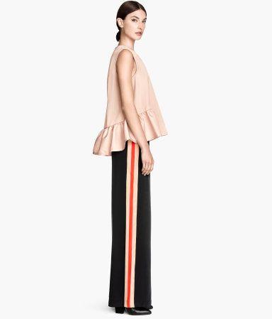 satin pants | H&M DE