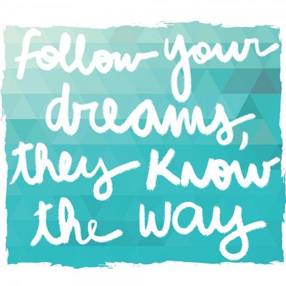 siga seus sonhos frase blog