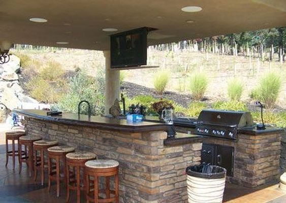 49 Cool Small Kitchen Design With Island House Design Outdoor Restaurant Patio Design