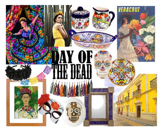 """Día de los Muertos"" by beetlescarab ❤ liked on Polyvore featuring interior, interiors, interior design, home, home decor, interior decorating, NOVICA, Dot & Bo, Cultural Intrigue and Dayofthedead"