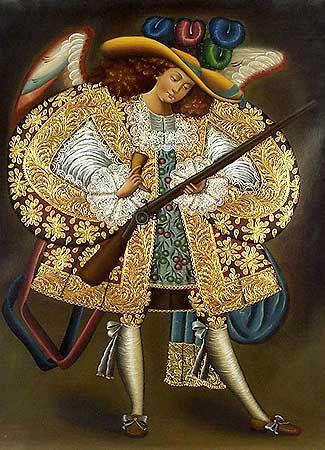 Arcangel Arcabucero by an Anonymous artist of the Cuzco school, 18th Century.