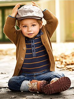 adorable look for a little boy!