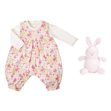 Buy Emile et Rose Baby Floral Cord Romper, Multi Online at johnlewis.com