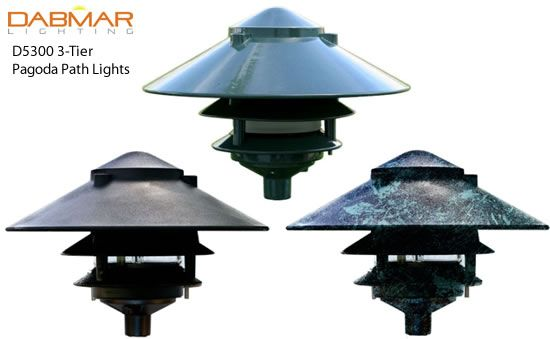 Dabmar D5000 D5300 3 Tier Pagoda Path Lights Dabmar Pagoda Path Lights Deep Discount Lighting Path Lights Lights Discount Lighting