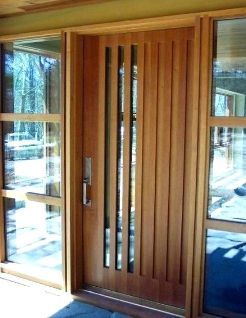Modern Door Texture Modern Wood Front Door With Vertical Glass