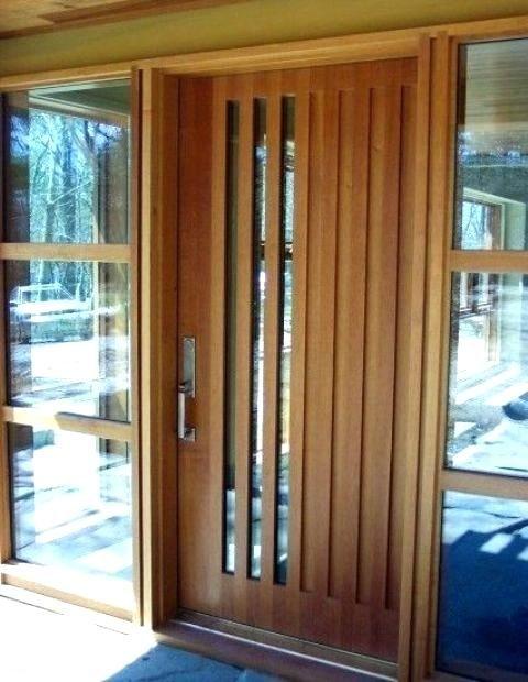Modern Door Texture Wood Front With Vertical