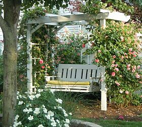 Arbor swing my father made for me. What a great birthday gift this was… :: Hometalk