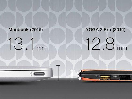 Ecco  #Lenovo #YOGA3Pro: solo 12.8mm di spessore, ma anche 2 porte USB, sistema audio intelligente e una cerniera ispirata ai cinturini degli orologi per una rotazione completa dello schermo display touch.