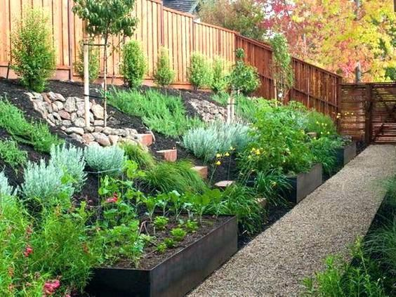 Small Sloped Backyard Ideas Landscaping Ideas For Small Sloping