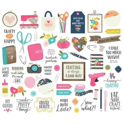 multicolore-Inc stickers Simple Stories Cheese III Collection Kit