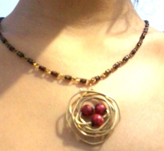 Bird's Nest Pendent ∙ How To by Riya K. on Cut Out + Keep