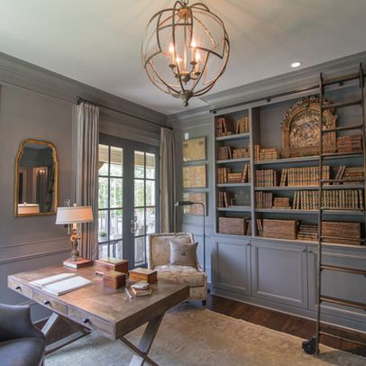 wall paint color and built ins color...Gray Built Ins Design Ideas, Pictures, Remodel, and Decor - page 6