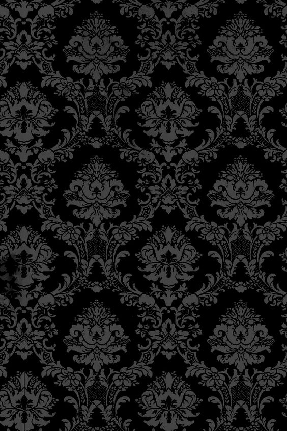 Damasks wallpapers and iphone wallpapers on pinterest for Black white damask wallpaper mural