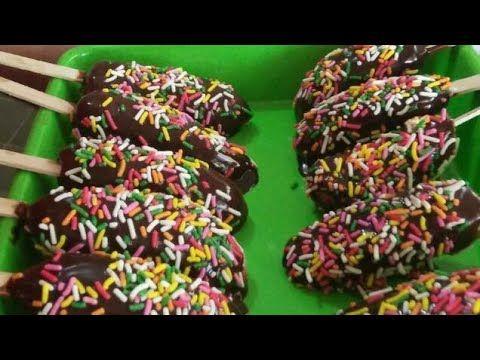 Resep Es Pisang Coklat Coklatnya Nempel Youtube Pisang Coklat Resep