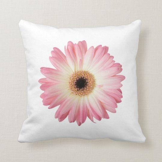 Pink Daisy Home Decor Throw Pillow Zazzle Com Throw Pillows Decorative Throw Pillows Floral Pillows