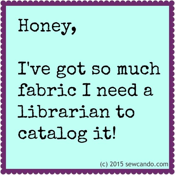 Sew Can Do: Are you a fabric hoarder too?