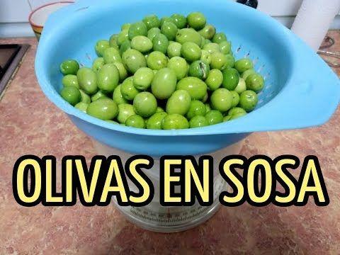 Hacer Olivas En Sosa Fácilmente De Manera Simple Youtube Food Fruit Olive