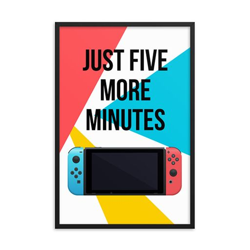 Nintendo Switch Five More Minutes Game Room Decor Digital Download In 2020 Game Room Decor Gamer Room Decor Video Game Decor