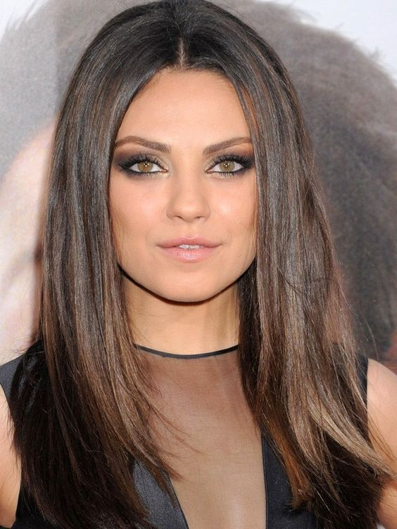 Jet Black Hair With Copper Highlights jet black hair with light brown ...