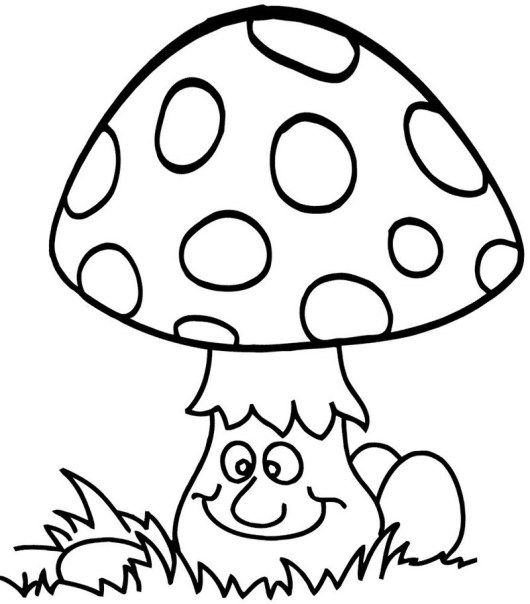 Mushroom Coloring Sheet A4 Printable Instant Download Color Etsy Coloring Pages Stuffed Mushrooms Coloring Books