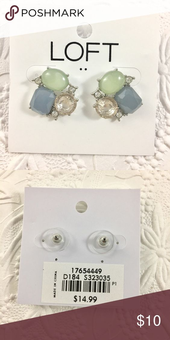 """LOFT Rhinestone Studs Brand new with tags. Studs with silver hardware. Approximately 1"""". LOFT Jewelry Earrings"""