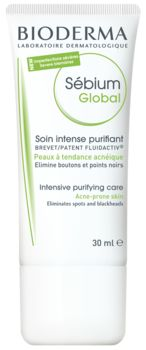 BIODERMA - Sébium GLOBAL. A moisturizer for acne prone skin but I use it as a spot treatment. Especially for those under the skin kinds of spots that are hard to get rid off. I feel it is too aggressive for whole face application. Like it so far!