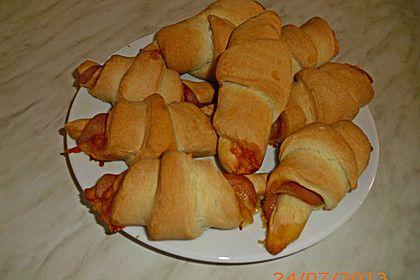 Käse - Schinken - Hörnchen, ein gutes Rezept aus der Kategorie Fingerfood.