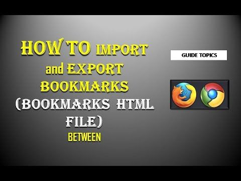BOOKMARKS PROTECT|HOW TO IMPORT AND EXPORT BOOKMARKS|GUIDE TOPICS Internet  Explorer, Mozilla Firefox, google chrome this video … | Bookmarks, Topics,  Winter house