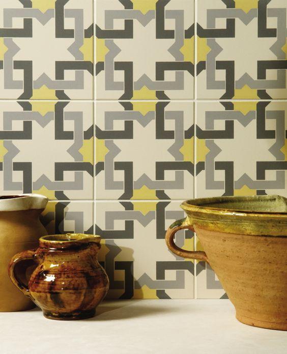 Patroon tegels als keukenwand. mooi in een landelijke keuken ...