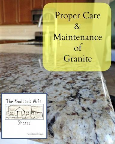 Cleaning and resealing granite countertops.  This is so simple!