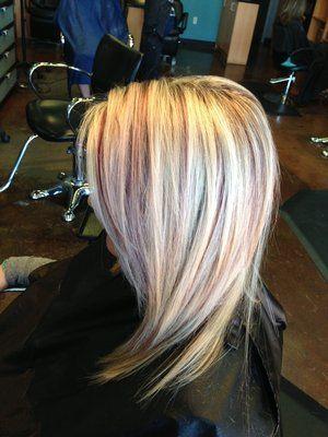 Pleasant Blonde Highlights Burgundy And Blondes On Pinterest Short Hairstyles Gunalazisus