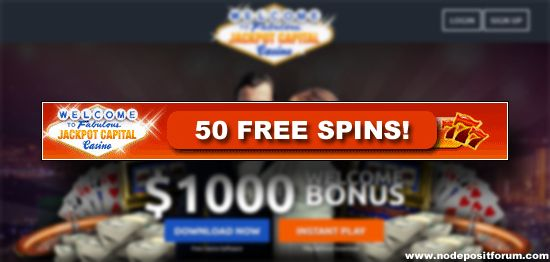 Jackpot Capital No Deposit Bonus 50 Free Spins And 200 Match