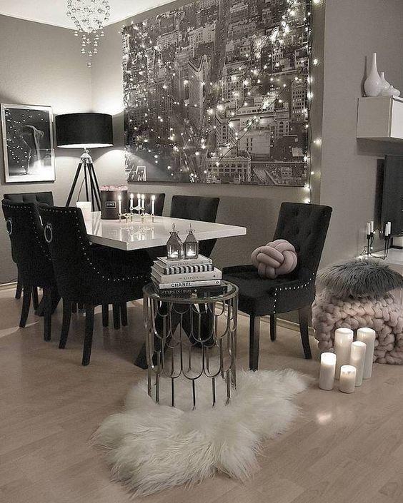 Black Is Back 10 Modern Furniture Designs Chic Dining Room Black Dining Room Affordable Dining Room