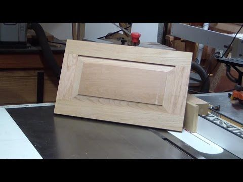 DIY 4 Panel wooden Door, part 4. raised panel cutting with a straight router - YouTube
