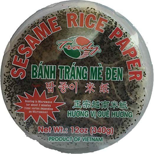 black sesame rice paper banh trang me