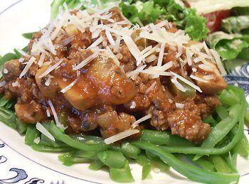 Low carb green bean spaghetti