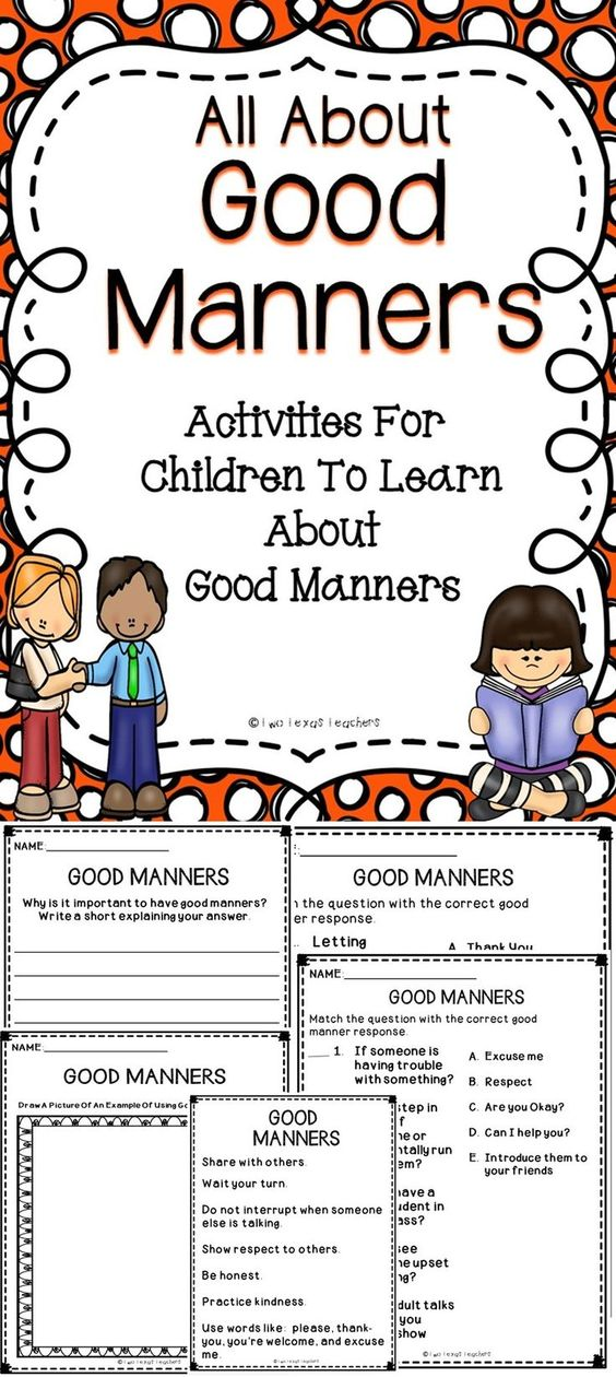 Good manners for children essay topic