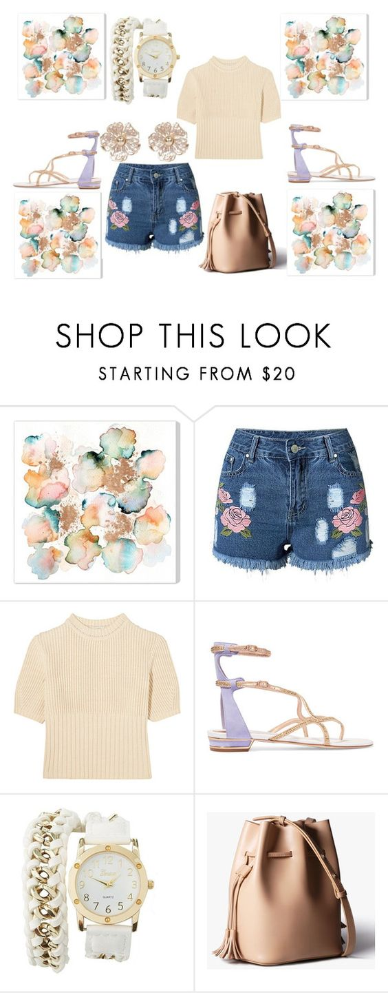"""""""flower smash"""" by gamgul on Polyvore featuring Totême, René Caovilla, Charlotte Russe and River Island"""