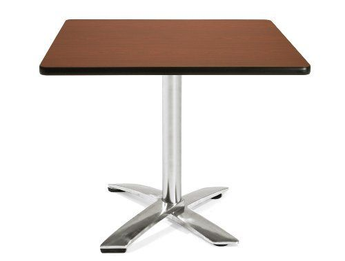 "36"" Square Folding Multi-Purpose Table (Mahogany) (29.5""H x 36""W x 36""D) by OFM Inc.. $419.00. Perfect for lunch room, cafe, game room, etc. with an elegant black powder coat paint finished steel base.Features:Elegant flip top baseTop flips up and bases nest for easy storage1 1/4 thick hi pressure laminate top with honeycomb core3mm edge banding29.5"" high from the floorExcellent for lunch and meeting roomsDimensions:Overall Height: 29.5""Overall Width: 35.75""Overall D..."