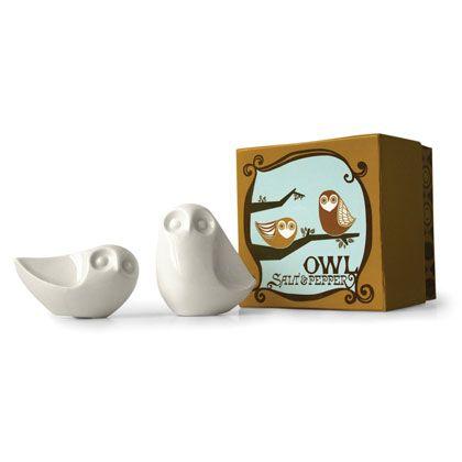 Jonathan adler owl salt pepper shakers in all pottery for the home pinterest salts - Jonathan adler salt and pepper shakers ...