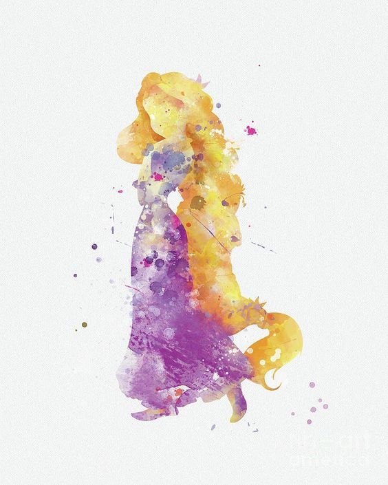 Rapunzel Mixed Media by Monn Print