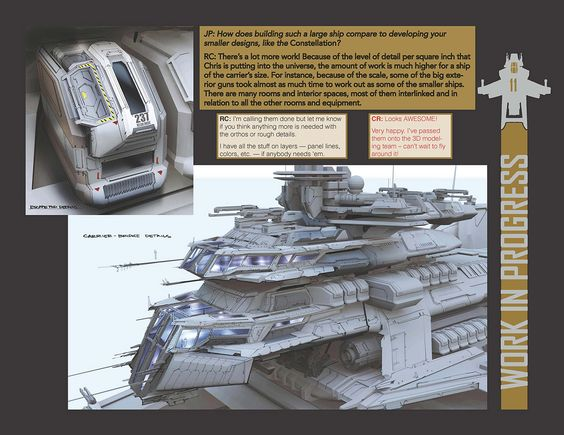 Bengal-Class Carrier - Concept by Ryan Church with Sergio Rosas at CGBot for STAR CITIZEN.
