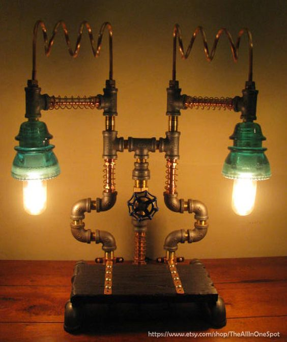 What S Hot On Pinterest Mid Century Table Lamps For Your Loft: Industrial Copper, Brass And Steel