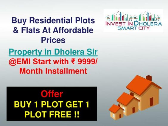 If you want to invest in our Residential Township projects having Villas, Bungalows and Residential Plots in Dholera Smart City in Gujrat, at very resonable price,Our Plots Starting form Rs. 280 per Sq. Ft for minimum Booking amount 12.5k and EMI Start with EMI Start with ₹ 9999/ Month Installment. \n\nFor more info please visit: www.investindholerasmartcity.com or call us at  91 7042878445 or email at info@smart-homes.in  \n
