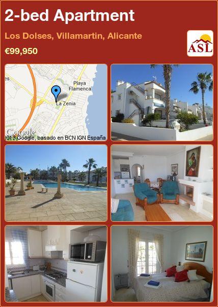 2-bed Apartment in Los Dolses, Villamartin, Alicante ►€99,950 #PropertyForSaleInSpain